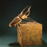 Tony Hochstetler, Rhinoceros Beetle (Large), 1991, bronze, 20 x 18 x 14, collection of Clay and Julie Speer.