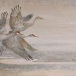 Thomas Quinn, Bosque Farewell, 2015, watercolor, 25 x 39, collection of Charles Bowen.