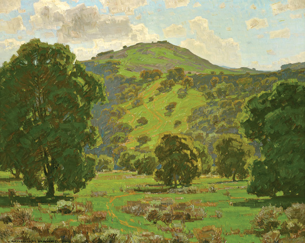 WILLIAM WENDT, ALONG THE ARROYO SECO, 1912, OIL, 40 X 50.