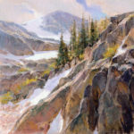Skip Whitcomb, Ascension, 2005, pastel, 24 x 24, collection of Tim and Cathi Newton.