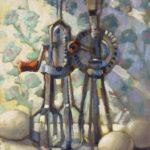 Hilarie Lambert, Beaters & Eggs, oil, 12 x 9.