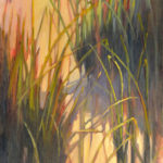 Hilarie Lambert, Dusk #3, oil, 30 x 15.