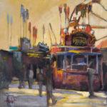 Hilarie Lambert, French Fries, oil, 18 x 18.