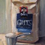 Hilarie Lambert, Grits, oil, 10 x 8.