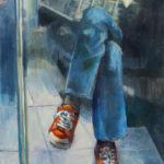 Hilarie Lambert, Metro No. 2, oil, 40 x 30.