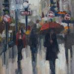 Hilarie Lambert, A Little Rain, oil, 12 x 9.