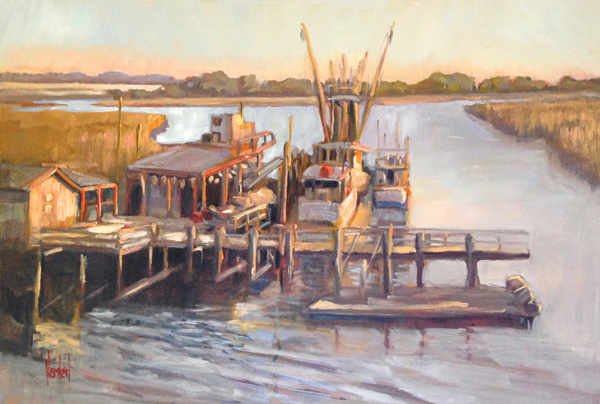 Hilarie Lambert, When the Sun Comes Up, oil, 24 x 36.