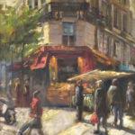 Hilarie Lambert, Off to the Market, oil, 20 x 16.