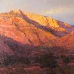 Jill Hartley, Sunset in the Canyon, oil, 20 x 20.