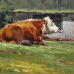 Kate Mueller, Summer Nap, oil, 11 x 14.