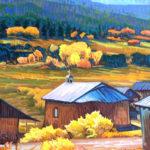 Brad Price, Placita Chapel, oil, 30 x 24.
