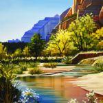 Michelle Condrat, A Walk Along the River, oil, 24 x 18.