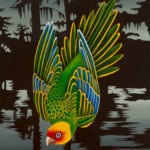 Billy Hassell, Ghosts of Caddo Lake, Carolina Parakeet, 2018, oil, 40 x 36.