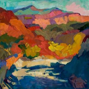 Larisa Aukon, Turn, oil, 20 x 20.