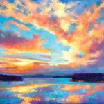 Teresa Saia, San Juan Passage, pastel, 30 x 40.