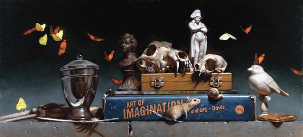Michael T. Davis, The Art of Imagination, oil, 12 x 24.
