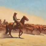 Maynard Dixon, Trail Herd, oil, 30 x 36. Estimate: $400,000-$600,000.