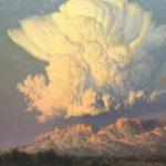 Wilson Hurley, Thunderstorm Building in the Sandias, oil, 48 x 48.