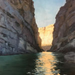 Laura Barrow, Santa Elena Canyon Morning, oil, 16 x 12.