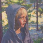 Dan Schultz, First Light in the Forest, oil, 12 x 16.