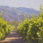 Dan Schultz, Ojai Lemon Grove, oil, 8 x 10.