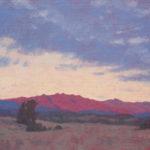 Dan Schultz, Ojai Valley Sundown, oil, 11 x 14.