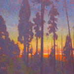 Dan Schultz, Summer Moonset, oil, 16 x 20.