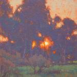 Dan Schultz, Sunset Glow, oil, 10 x 10.