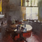 Patrick Lee, Morning Kitchen, oil, 30 x 24.