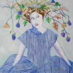 Peggy McGivern, The Muse, mixed media, 36 x 36.