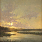 Jane Hunt, Back Bay Evening, oil.