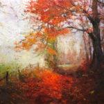 Jenny Buckner, Fall's Blush, oil, 36 x 48.