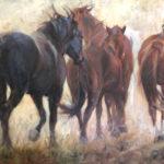 Jenny Buckner, Thundering Herd, oil, 36 x 48.