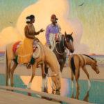 Gerard Curtis Delano (1890-1972), The Orange Cloud, oil, 32 x 42. Estimate: $500,000-$700,000.