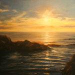 Paula B. Holtzclaw, Shining Seas, oil, 24 x 30.