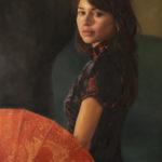 Anna Toberman, Time to Say Goodbye, oil, 18 x 12.