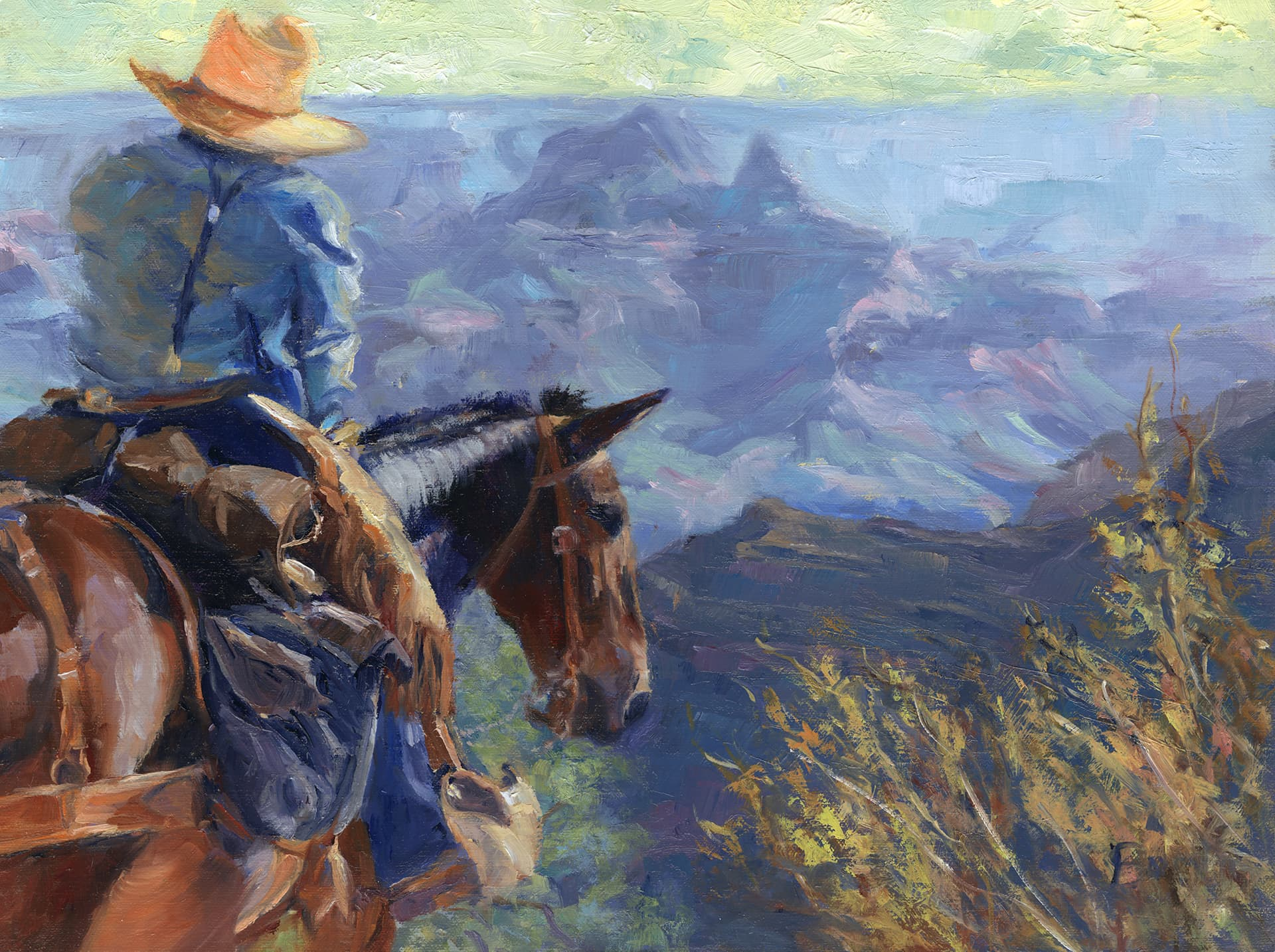 Maggie and Jack on the Way to Work by Mary Lois Brown.