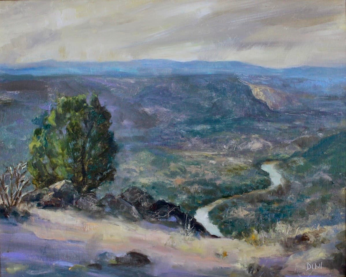 Looking Over the Rio Grande by Madina Croce.