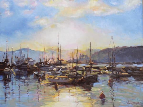 Restful Evening, Portofino, by Sandhya Sharma.