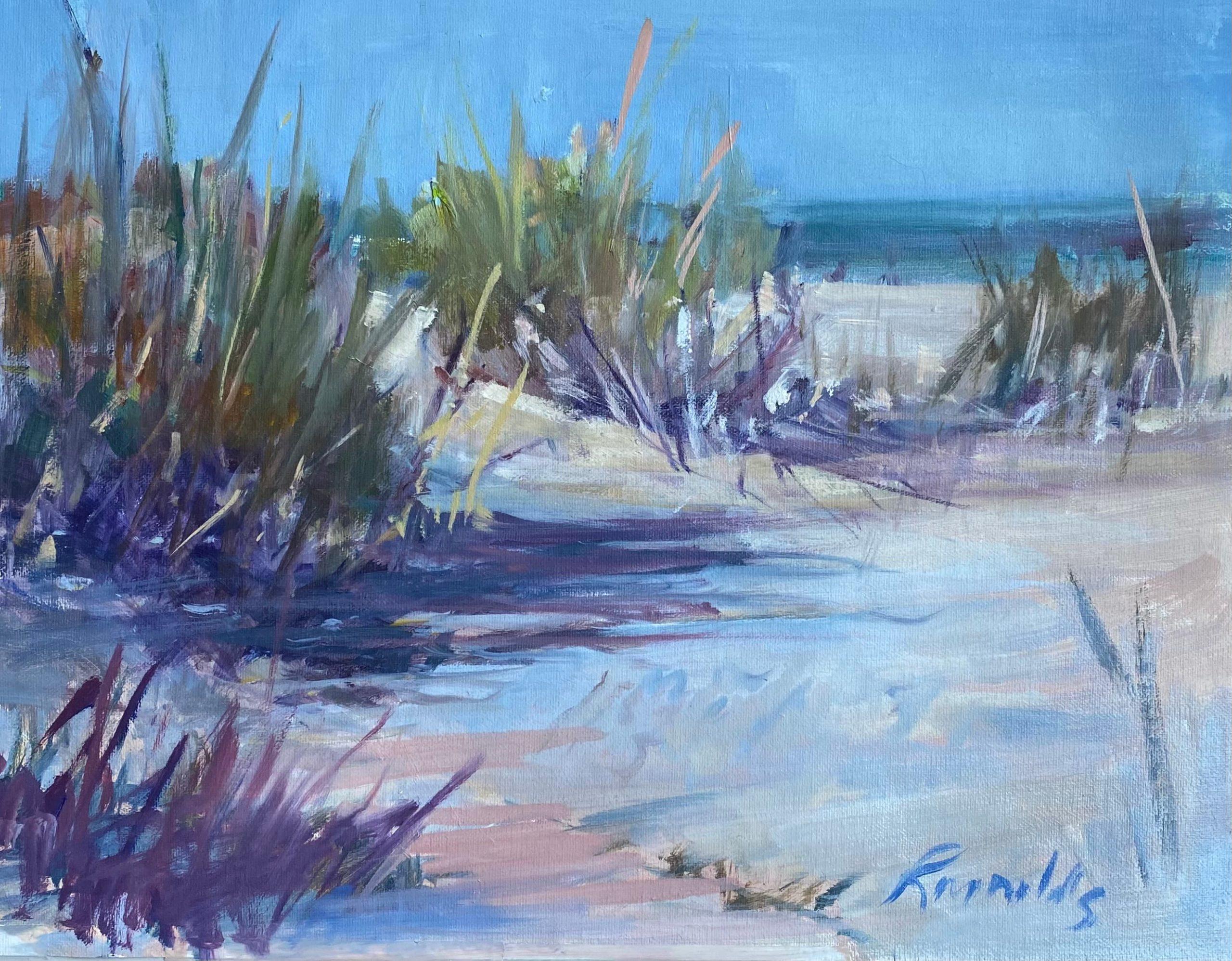 Beach Grasses and Shadows by Sara Jane Reynolds.