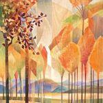 Cynthia Duff, Aspen Moment, acrylic on birchwood, 23 x 19.