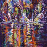 Barbara Meikle, Salt River Star, oil, 48 x 24.