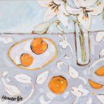 Katrina Howarth, Lilies and Orange, oil, 16 x 20.