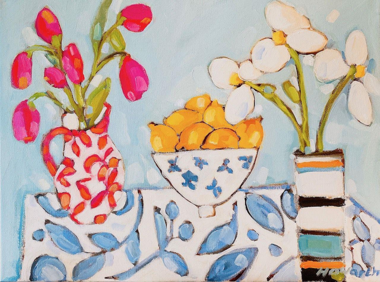 Katrina Howarth, My Table, oil, 18 x 24.