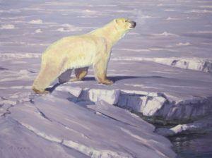 William Alther, Arctic Explorer, oil, 30 x 40.
