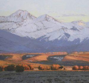 William Alther, North Park Evening, oil, 28 x 30.