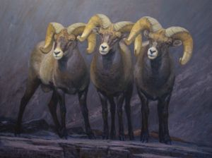 William Alther, Rocky Mountain Greeting, oil, 36 x 48.