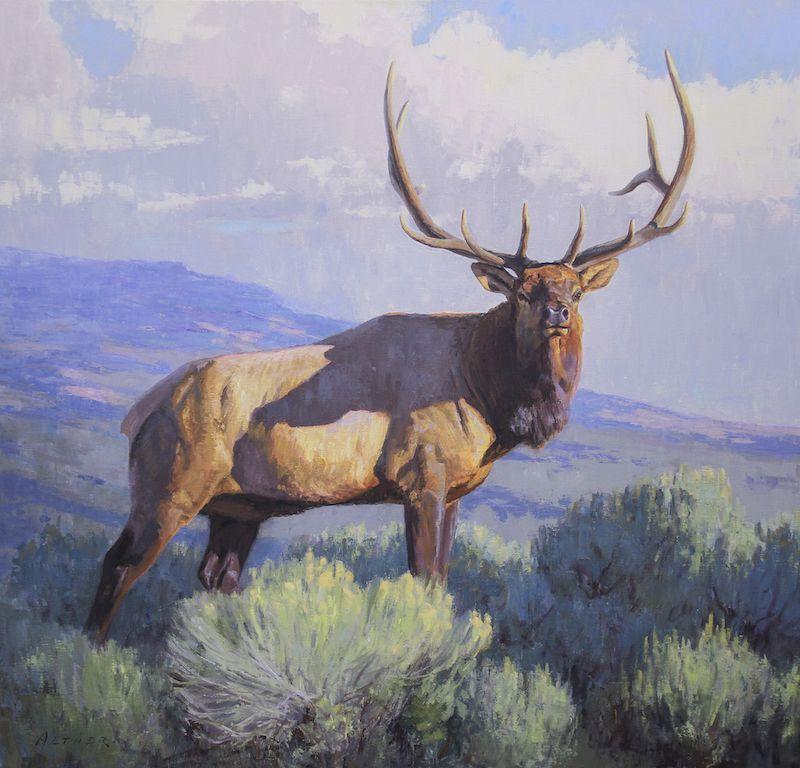 William Alther, Seasonal Brass, oil, 42 x 44.