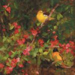 Kathy Anderson OPAM, Quince and Orioles, oil, 22 x 18.