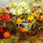 Begonias (2014) by Richard Schmid.